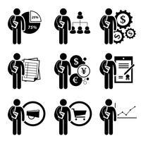 Diplôme universitaire en gestion des affaires. vecteur