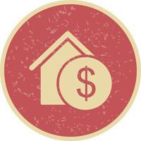 Icône de vecteur immobilier