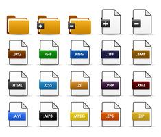 Conception d'icônes Web de dossiers de fichiers. vecteur