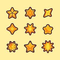 jeu d'icônes étoiles vecteur