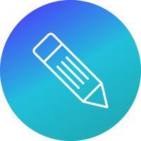 Icône de crayon de vecteur