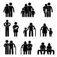 Symbole de famille icône signe heureux. vecteur