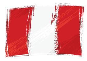 drapeau du Pérou grunge vecteur
