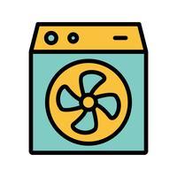 Icône de vecteur de refroidisseur de chambre