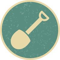 Icône de vecteur de pelle