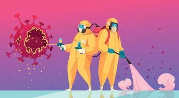 le coronavirus empêche le fond de couleur plat vecteur