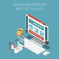 composition des résultats des tests en ligne vecteur