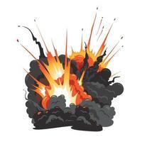 image isolée de l'explosion d'une bombe vecteur