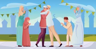illustration plate du ramadan vecteur