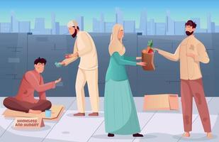 fond de charité ramadan vecteur