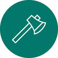 icône de vecteur de hache