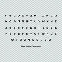Lettres Anglaises vecteur