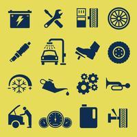 Symbole d'icône de service de réparation automobile automatique.