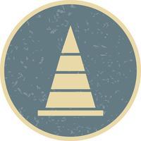 Icône de vecteur de cône