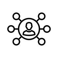 Partage d'icône vectorielle vecteur