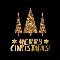 Bannière de Noël avec le pin de Noël.