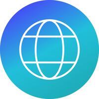 Icône de globe terrestre vecteur