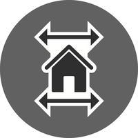 Icône de vecteur de plan immobilier