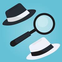 Bannière SEO chapeau noir et blanc