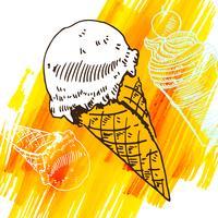 Esquisse de style dessert glacé Doodle