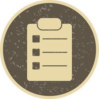 Icône de liste de vecteur