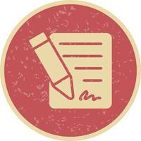 Contrat vecteur icône