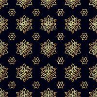 Modèle sans couture de fleur d'or. vecteur