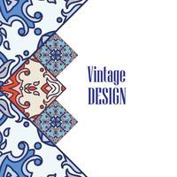 Azulejos de bannière dans le style de carreaux portugais pour les entreprises.