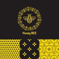 insecte Bee pour identité visuelle vecteur