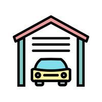 icône de vecteur de garage