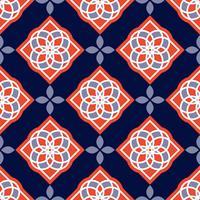 Carreaux d'azulejo portugais. Modèles sans couture magnifiques bleus et blancs. vecteur