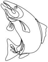 touladi sautant dessin au trait continu vecteur
