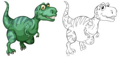 Contour d'animaux pour dinosaure vecteur