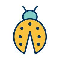 icône de vecteur dame bug