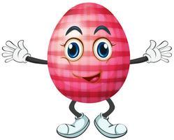 Oeuf de Pâques au visage heureux vecteur