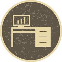 Bureau Table Vector Icon