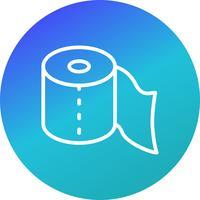Icône de papier toilette vecteur