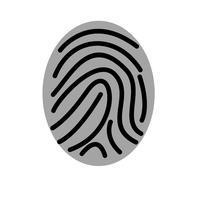 icône de vecteur d'empreinte digitale