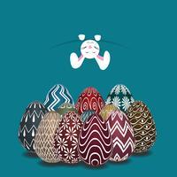 Thème de Pâques avec au-dessus de l'œuf coloré