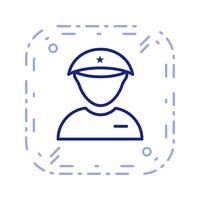 icône de vecteur de lieutenant