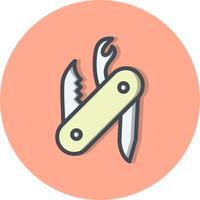 Icône de vecteur couteau suisse