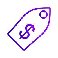 icône de vecteur de balise entreprise