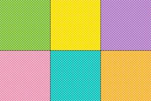 Motifs de Pâques à petits pois vecteur
