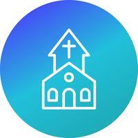 Icône de vecteur d'église