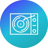 Lecteur de vinyle Vector Icon