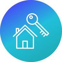 Icône de vecteur de clé de maison