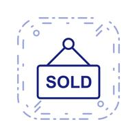 Icône de vecteur vendu