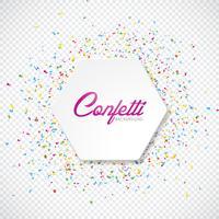 Illustration de vecteur coloré de confettis sur fond transparent.