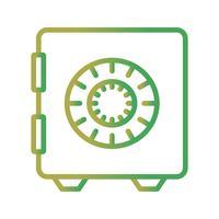 Icône du coffre-fort de vecteur