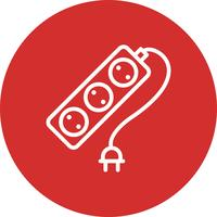 Icône de vecteur de câble d'extension